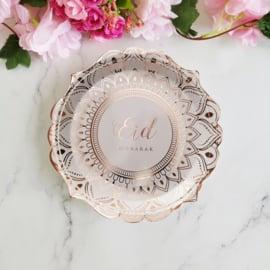 Eid plates desert rose (6pcs)