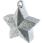 Ballongewicht zilver glitter ster