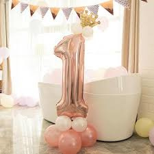 Foil balloon with crown pink nr 1