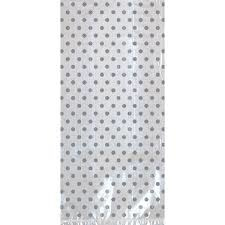 Plastic zakjes zilveren stip(12st)