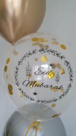Ballonnen Eid partyzz mix goud + confetti (5st)