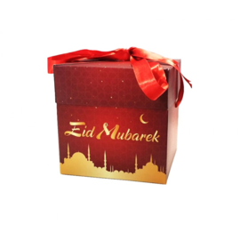 Eid gift box red gold (ea)