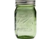 Mason jar 16oz regular mouth GREEN