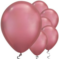 Ballon chrome roze (pst)