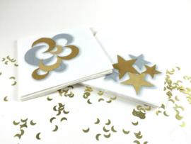 Paper napkins cresent gold