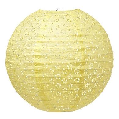Paper lantern eyelet yellow (L)