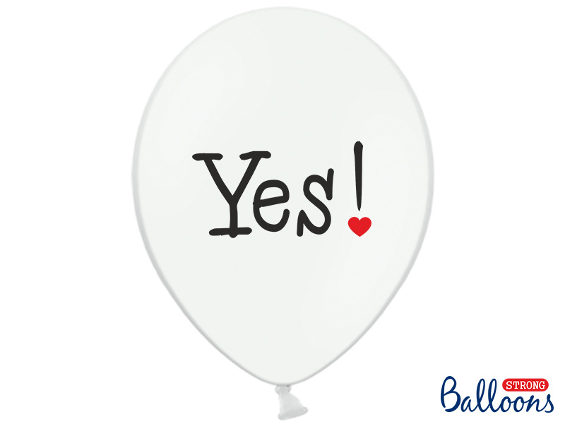 Ballon wit Will you / YES! (6st)