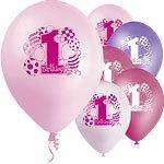 First birthday ballonnen mix rose (8st)