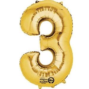 Golden foil balloon 3