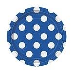 Bordjes blauw polkadots (8st)