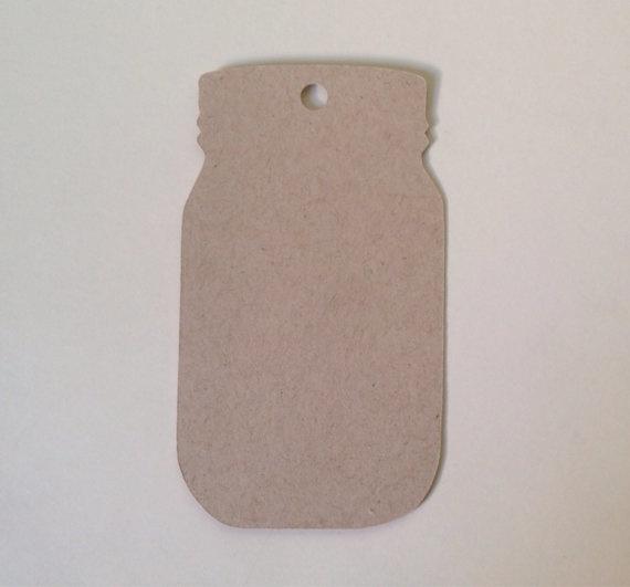 Mason Jar labels kraft (10st)