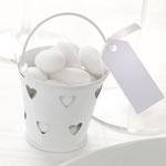 Mini pail white (set of 5)