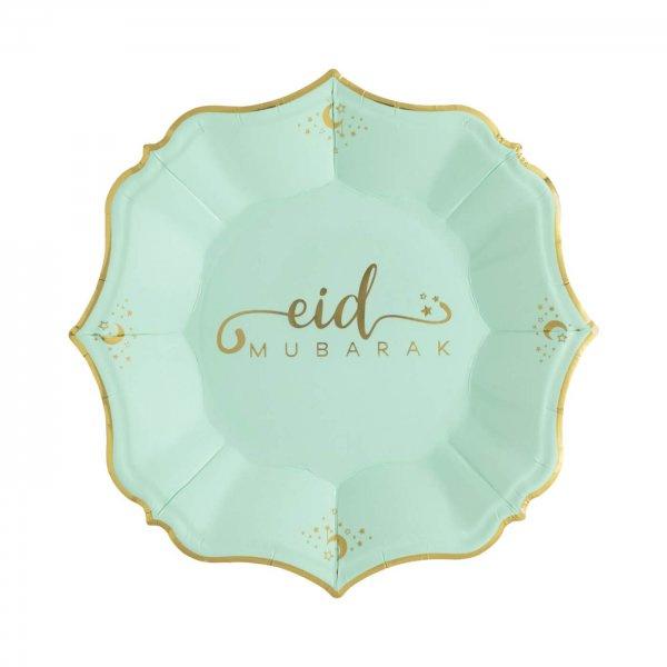 Bordjes Eid Mubarak klassiek mint groen (8st)