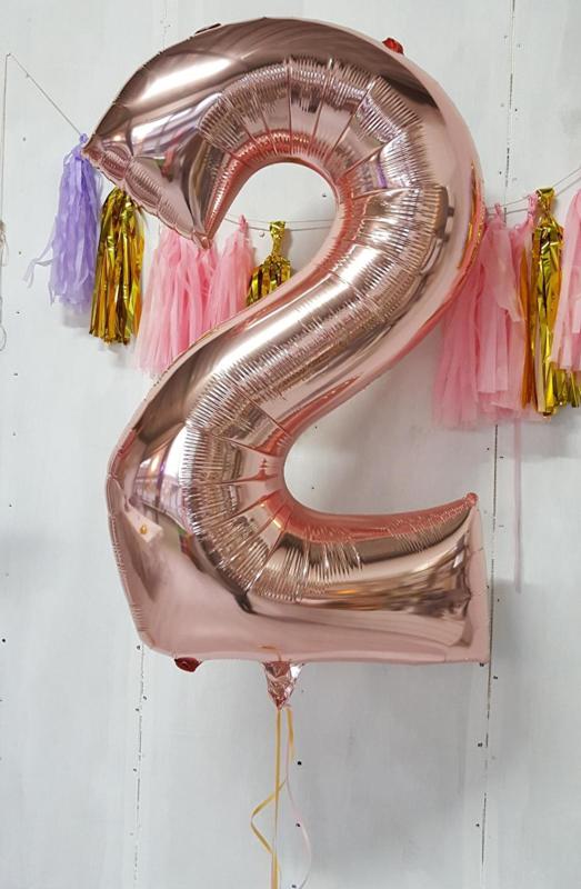 XL cijferballon gevuld