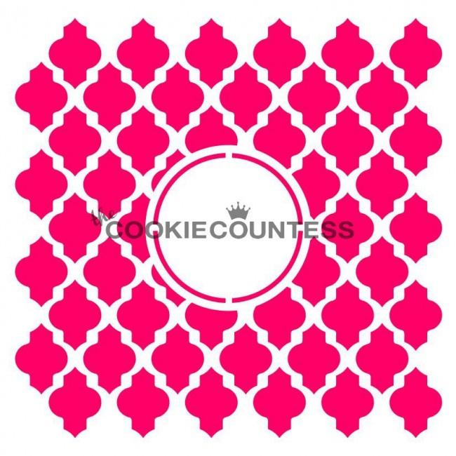 Cookie stencils maroccan design