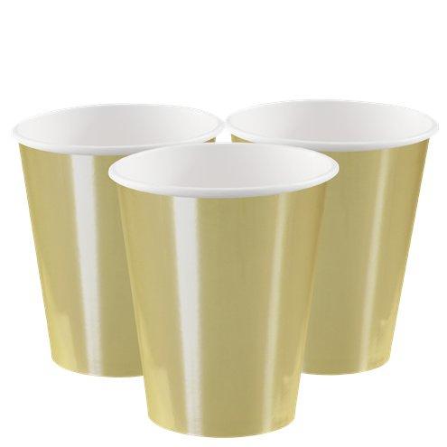 Paper cups matte gold (8pcs)