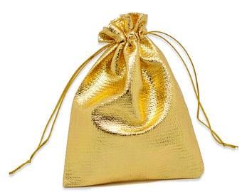 Gouden stoffen tasje