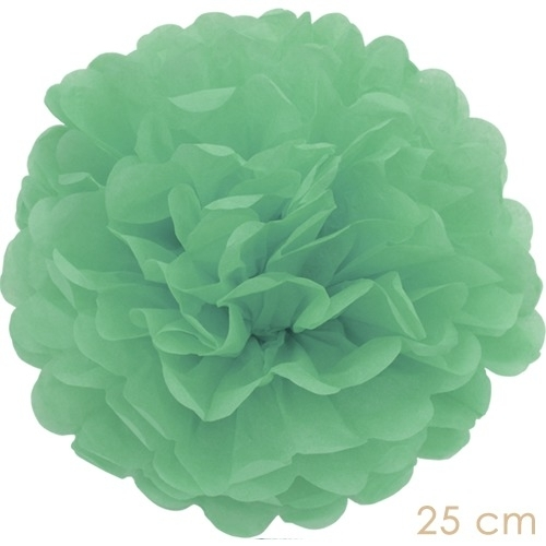 Pompom mint green 25cm