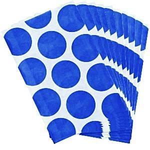 Paper treat bags blue polka (10pcs)