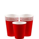 Paper cups red (8pcs)