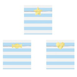 Paper treat bags blue stripes (6pcs)