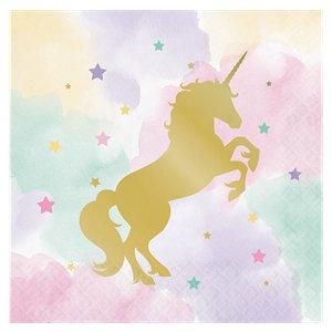 Unicorn glam servetten (16st)