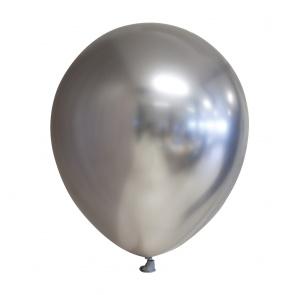 Chrome balloons silver (10pcs)