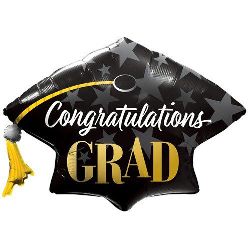 XXL Ballon graduation hat met helium