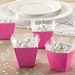 Favor boxes pink (10pcs)