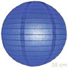 Lampion donker blauw 35 cm