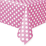 Tablecover pink polka dots