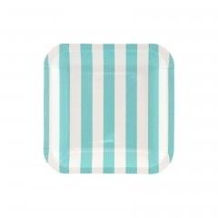 Paper plates blue square (12pcs)