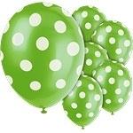 Balloons green polka dot (6pcs)