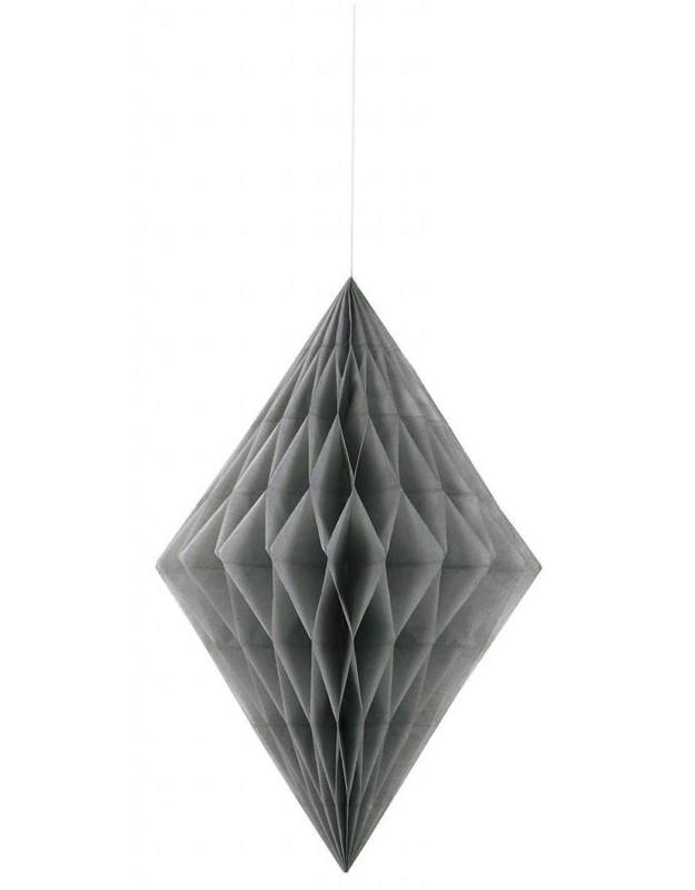 Honeycomb diamant zilver