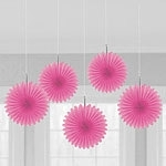 Mini hanging fans hot pink