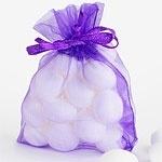 Organza pouch purple