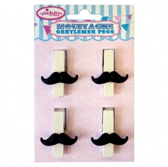 Moustache clips (4st)