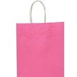 Party bag kraft pink medium
