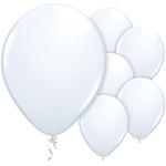 Ballonnen mat wit (10st)
