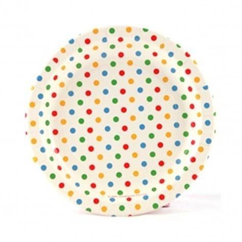 Paper plates confetti (10pcs)