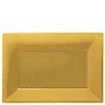 Serving platters gold (set of 3)