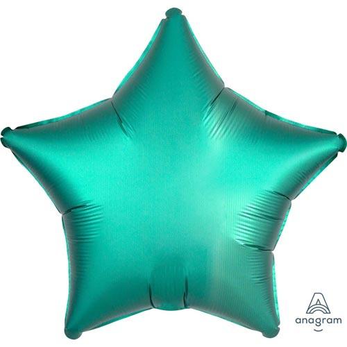 Foil balloon satin turqoise star (18in)