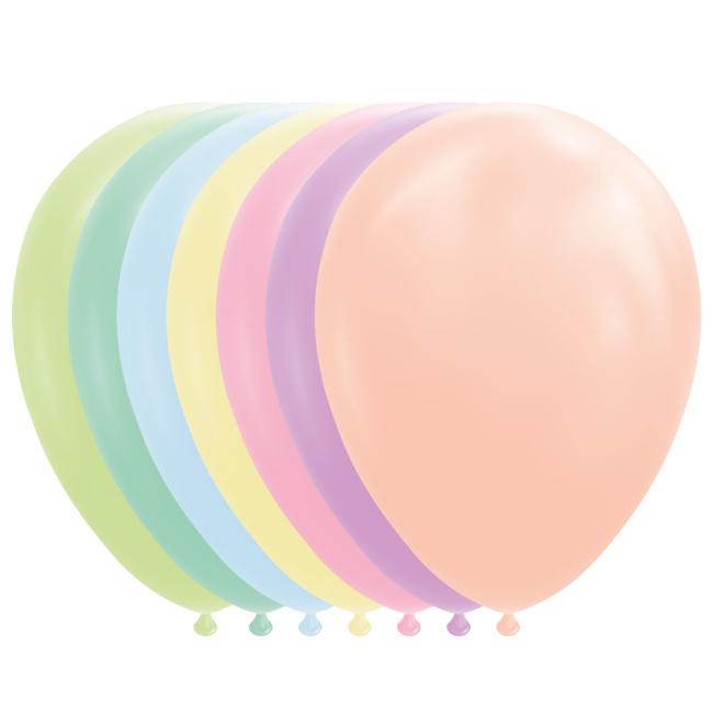 Ballonnen pastel mix (7st)