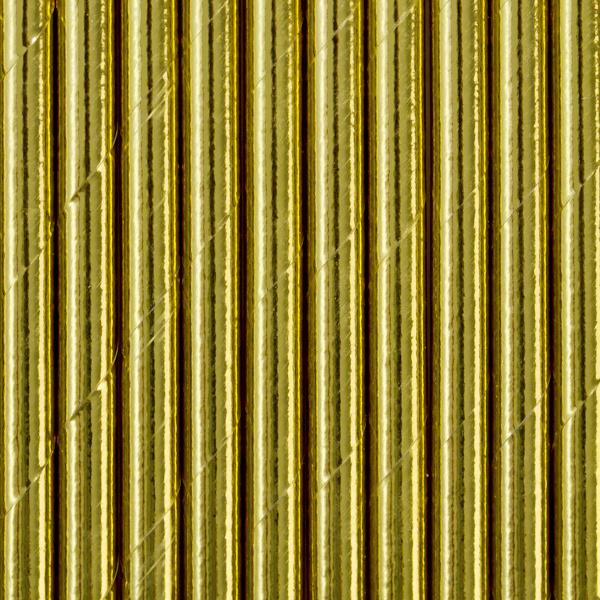 Papieren rietjes glimmend goud (10st)