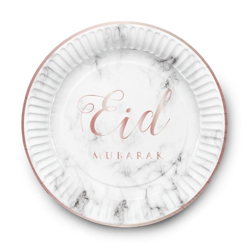 Eid marble papieren bordjes (6st)