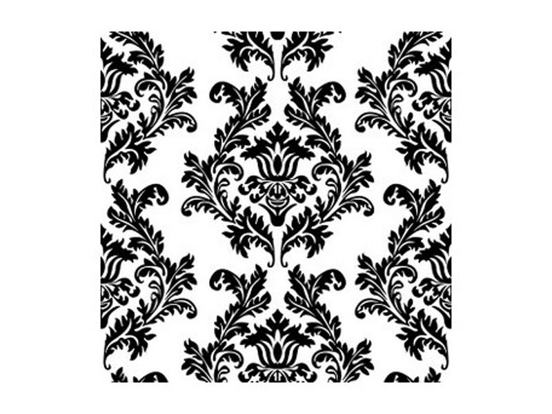 Paper napkins black damask