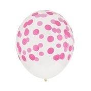 Balloons pink dots (5pcs)