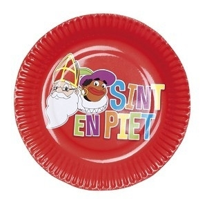 SInterklaas paper plates (8pcs)