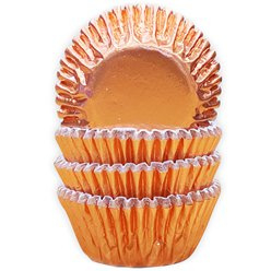 Cupcake cases mini rose gold foil (60pcs)