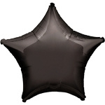 Foil balloon star black